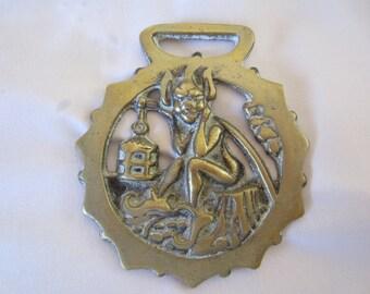Unique Elf Vintage Horse Brass
