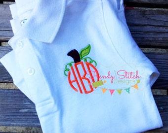 Pumpkin Top MINI 1 Applique Design Machine Embroidery Design INSTANT DOWNLOAD