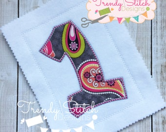Happy Numbers Applique Design Machine Embroidery Font Birthday INSTANT DOWNLOAD 1 2 3 4 5 6 7 8 9 0