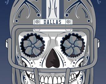 Dallas Cowboys Sugar Skull 11x14 Print