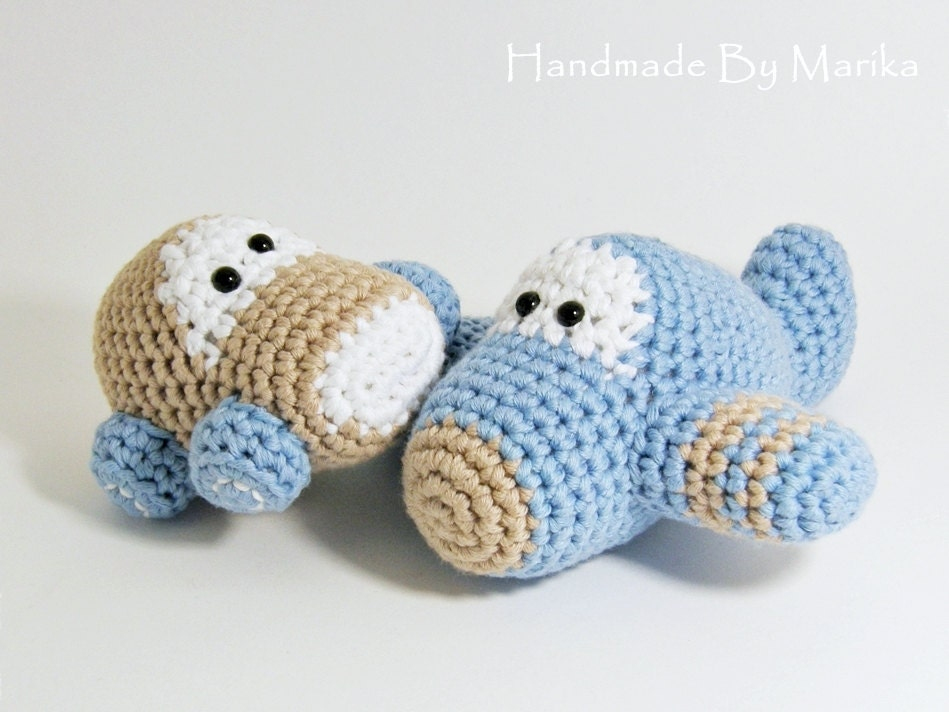 Crochet toy baby rattles amigurumi airplane and car set