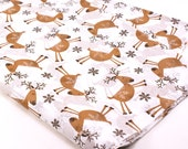 24 sheets of Holiday Tissue Paper - Dancing Reindeer & Snowflake - 15 x 20 inch 100% recycled tissue - Packaging and Gift Wrapping
