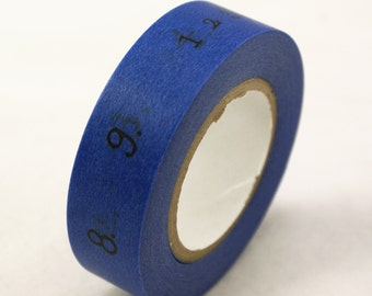 Blue washi tape - Big and Little numbers