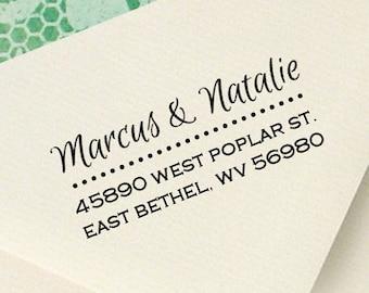 Custom Return Address Wood Stamp - custom address rubber stamp, personalized stamp - custom wedding stamp, invitations