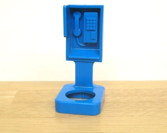 Rare Vintage Fisher Price Blue Pay Phone