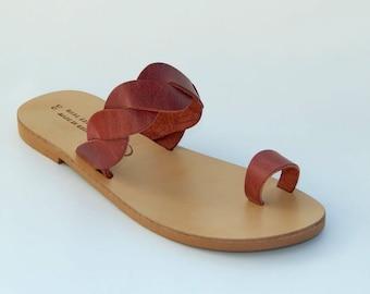 Greek Leather Sandlas