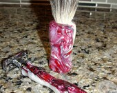 This Is What HE Wants , Shave Brush and Razor Gift Set No 4, Crushed Cheescake #GG1