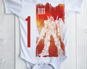 ROBOT Birthday Boy shirt -personalized robot party onesie - pick any age