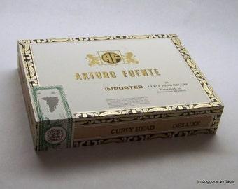 Cigar Box, Arturo Fuente Curly Head Cigar Box, Craft Box, Storage Box, Cigar Box Guitar
