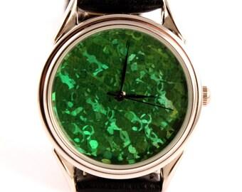 Watch hologram -  quartz watch -  green watch