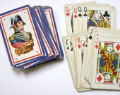 Vintage Playing Cards, Deck of Cards, Soldier Picture, Games