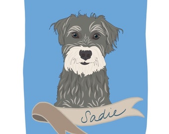 Pet Portrait Print - Custom Pet Portrait - Perfect Gift for Pet Lovers - Dogs, Puppies, Cats, Kittens, Birds - Custom Pet Portrait Prints