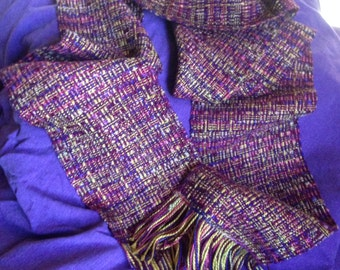 Autumn color mix handwoven rayon scarf