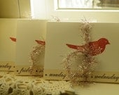 50% off this item, enter LOVE99 at checkout, Red Bird Note Cards, Mini Note Card,Thank You Cards, Sweet Bird Card Set