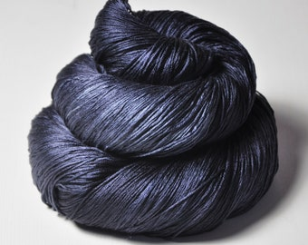 Drowning in the deep blue sea -  Silk Lace Yarn - knotty skein