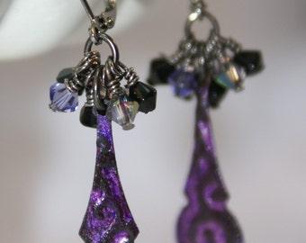 Purple Passion Earrings OOAK