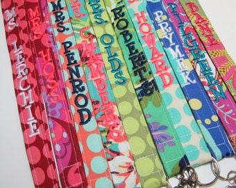Design Your Own Amy Butler Love – Personalized Lanyard – ID Badge Holder – Monogrammed – Key Strap