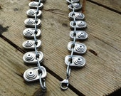 Charm Chain style Ring Pull Necklace, Mixed Metal, Silver colour Necklace