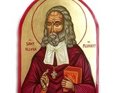 St Oliver Plunket - handpainted icon orthodox style, 6 x 8 inches, MADE TO ORDER
