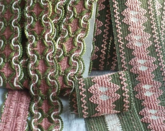 Mid Century Upholstery Trim Vintage Tapes Furnishing Braids Mid Century Trim Edging / Projects 16 yards
