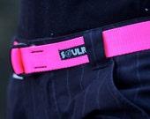 Fat Nylon Belt - Hot Pink
