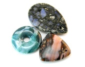 Gemstone Pendant Beads, Teardrop, Triangle, Donut