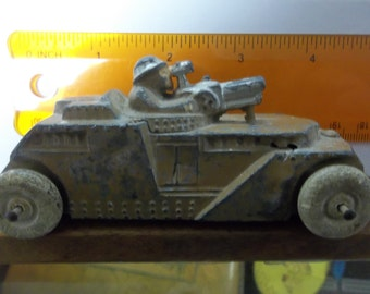 Manoil tank, toy tank, military tank, cast toy, , lead toy, manol, Barclay, Hubley