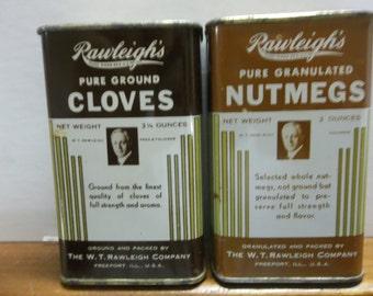 Vintage Rawleighs spice tin, rawleighs cloves, tin old spice tin, vintage spice tin