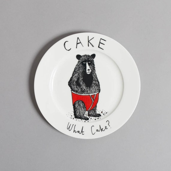 What Cake side plate