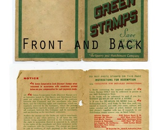 Vintage S&H Green Stamps Covers
