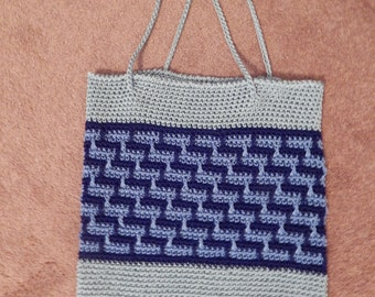 Hand Crocheted Tote Bag