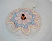 "Ceramic Pet Fountain, Cat Fountain, Tabletop Fountain -  Food safe Ceramic - 10 Inch Diameter  -""Mandala"""