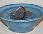 "Pet Fountain, Cat Fountain Food safe, Indoor Fountnain - 9.75 Inch Diameter - ""MIdnight Serene"""