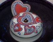 "Cat Fountain - Pet Fountain - Indoor Fountain - 9.25 Inch Diameter ""Valentine"""