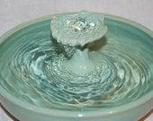 """Ceramic Cat Fountain - Pet Fountain - Indoor Fountain -  """"Caribbean"""" - 11 inch Diameter"""