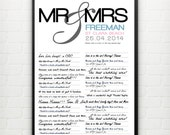 Personalized Wedding Guestbook Poster - large A2 size.