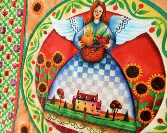 Angel's Abundance Quilted Wall Hanging/mini quilt