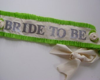 Bachelorette party sash, Bride to be Sash, hen party sash, customize with any colors- adjustable