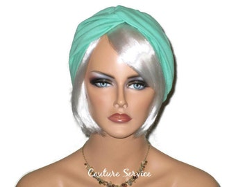 Green Turban, Mint Green Turban, Cotton Gauze Turban, Women's Green Turban, Summer Turban, Handmade, Fashion, Stretch,  Twist, Turban Hat