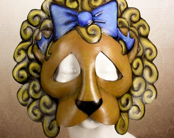 Cowardly Lion Leather Mask