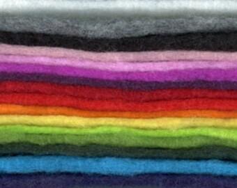 PREFELT in 10 colors 20mic Merino