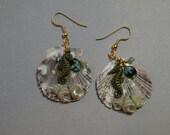 Sea Horse Seashell Earrings