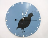 Quail Blue Wall Clock Decor Olyteam