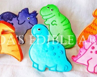 Prehistoric Pastels  Dino Cookies (1 Dozen)