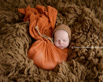 Adobe Brown Cheesecloth Baby Wrap Cheese Cloth Newborn Photography