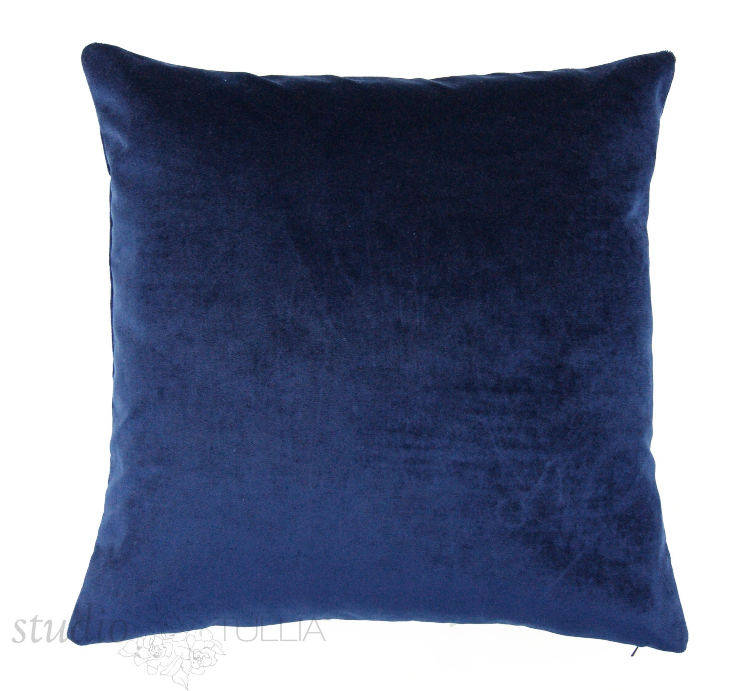 Velvet Decorative Pillow Covers : Velvet Pillow Cover 20 inch Midnight Blue Decorative