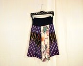 Recycled tee shirt skirt large size with yoga pant style waistband
