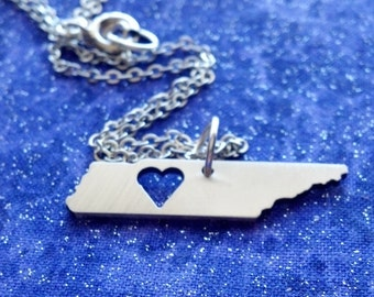 I Heart Tennessee - Necklace Pendant or Keychain