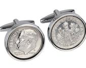 6th Wedding anniverary gift-2010 Wedding Anniversary Gift-Genuine 2010 Coin Cufflinks