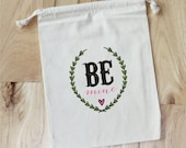 BE MINE -Personalized VALENTINE Favor Bags - Set of 10 - love - hearts